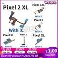 Wyieno для HTC Google Pixel 2XL XL 2 3 3XL зарядное устройство порт плата USB разъем для зарядки Микрофон с гибким кабелем Mic Plug + отслеживание