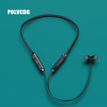 POLVCDG P03 Black Sports Bluetooth Earphones Wireless Sweatproof Headset Music Stereo Earbuds V5.0 with Microphone
