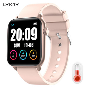 Image 1 - LYKRY KW37pro Bluetooth Smart Watch Temperature Heart Rate Monitor Full Touch Screen Smart watches for apple xiaomi VS IWO 8 9
