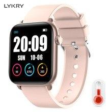 LYKRY KW37pro بلوتوث ساعة ذكية درجة الحرارة رصد معدل ضربات القلب كامل شاشة تعمل باللمس الساعات الذكية لابل شاومي VS IWO 8 9