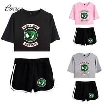 """Southside Костюмы комплект одежды спортивный костюм для мальчика футболка для мальчика топ продаж ривердейл шорты спортивная одежда """"South Side serpents"""" Ханука Подарки"""