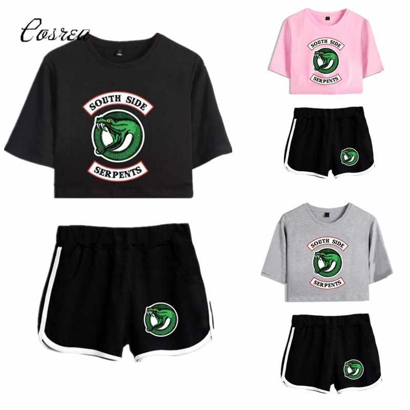 Riverdale Southside Clothing Set Sport Suit for Boy Tshirt Riverdale Shorts Sport Clothing South Side Serpents Riverdale Gifts