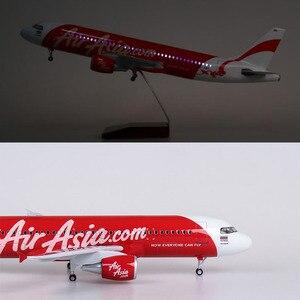 1/150 45CM AirAsia samolot A320Neo żywica model samolotu z dźwięk i światło model samolotu kolekcje prezenty dla dzieci