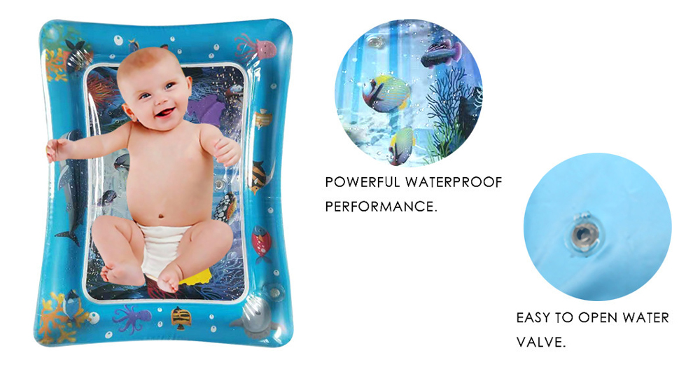 H70cdf67e9b674063bf269b1793e9a1984 36 Designs Baby Kids Water Play Mat Inflatable PVC Infant Tummy Time Playmat Toddler Water Pad For Baby Fun Activity Play Center
