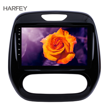 Harfey 2din 9 Car Stereo Android 8.1 GPS for Renault Captur CLIO 2011 2012-2016 Samsung QM3 Manual A/C support Bluetooth AUX image