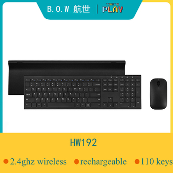 B.O.W Ultra thin Metal wireless Slim keyboard & mouse combo, Ergonomic Design & Full size Rechargeable Keyboard for computer logitech media combo mk200 full size keyboard and high definition optical mouse
