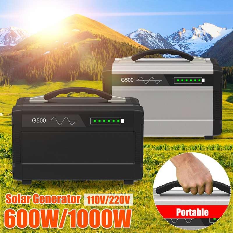 600 W/1000 W 110 V/220 V przenośny falownik solarny Generator czysta fala sinusoidalna na zewnątrz akumulator ups ładowania zasilania magazynowania energii