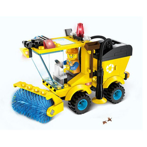 102pcs Small City Hero Street Cleaner Sweeper Truck Blocks Education Assembling Brand Toys For Children Gift Bricks Brinquedos(China)