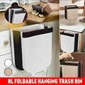 Dreamburgh składany kosz na śmieci kuchnia drzwi do szafki wiszący kosz na śmieci naścienny kosz na śmieci na toaleta wc przechowywanie odpadów