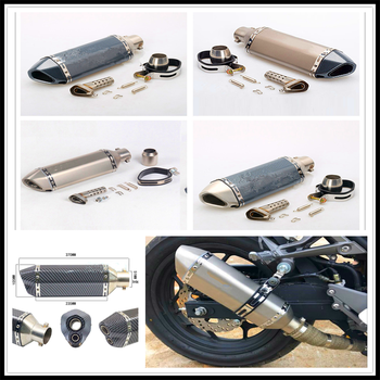 Stainless Steel 51mm Motorcycle Modified Motocross Exhaust Muffler For  HONDA CB190R VT1100 GROM MSX125 Honda XADV 750 X11