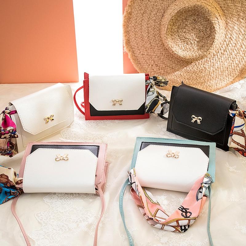 2020 nouveau coréen femme sac mode sac à bandoulière messager foulards petit carré paquet texture luxe style occidental sacs à main sma