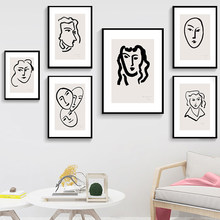 Figure Henry Matisse Nordic Simple Abstract Line Mural Picture Home Decor Canvas Painting Art Prints Poster Living Room no Frame