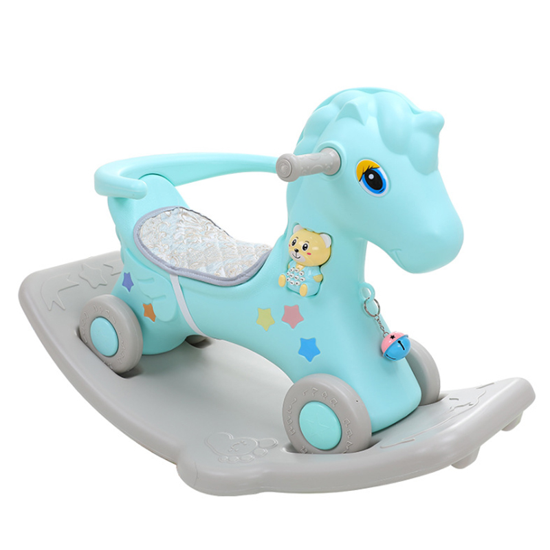 Rocking Horse HORSE Young-Piece Rocking Chair Early Education Plastic Small CHILDREN'S-Year-Old Trojan CHILDREN'S Rocking Horse