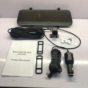 Автомобильный видеорегистратор, 9,66 дюйма, потоковое зеркало заднего вида, сенсорный экран, ночное видение, 1080 P, видеорегистратор, авто Реги...
