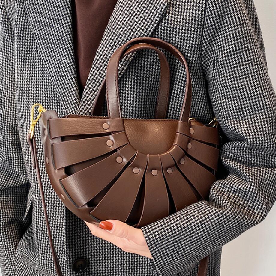 Luxus Marke Damen Tote tasche 2021 Mode Neue High-qualität PU Leder frauen Designer Handtasche Vintage Schulter Messenger tasche