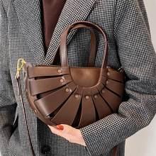 Sac à main en cuir PU de bonne qualité pour femmes, fourre-tout de marque de luxe, sacoche à épaule Vintage de styliste, nouvelle collection 2021