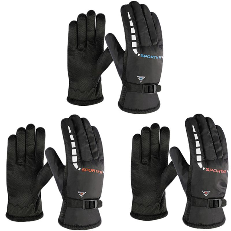 Unisex Ski Gloves Fleece Snowboard Gloves Winter Windproof Waterproof Snow Gloves For Outdoor Motorcycle Riding