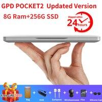 Updated GPD Pocket 2 Pocket2 8GB 256GB 7 Inch Touch Screen Mini PC Pocket Laptop Notebook CPU Intel Celeron 3965Y Windows 10