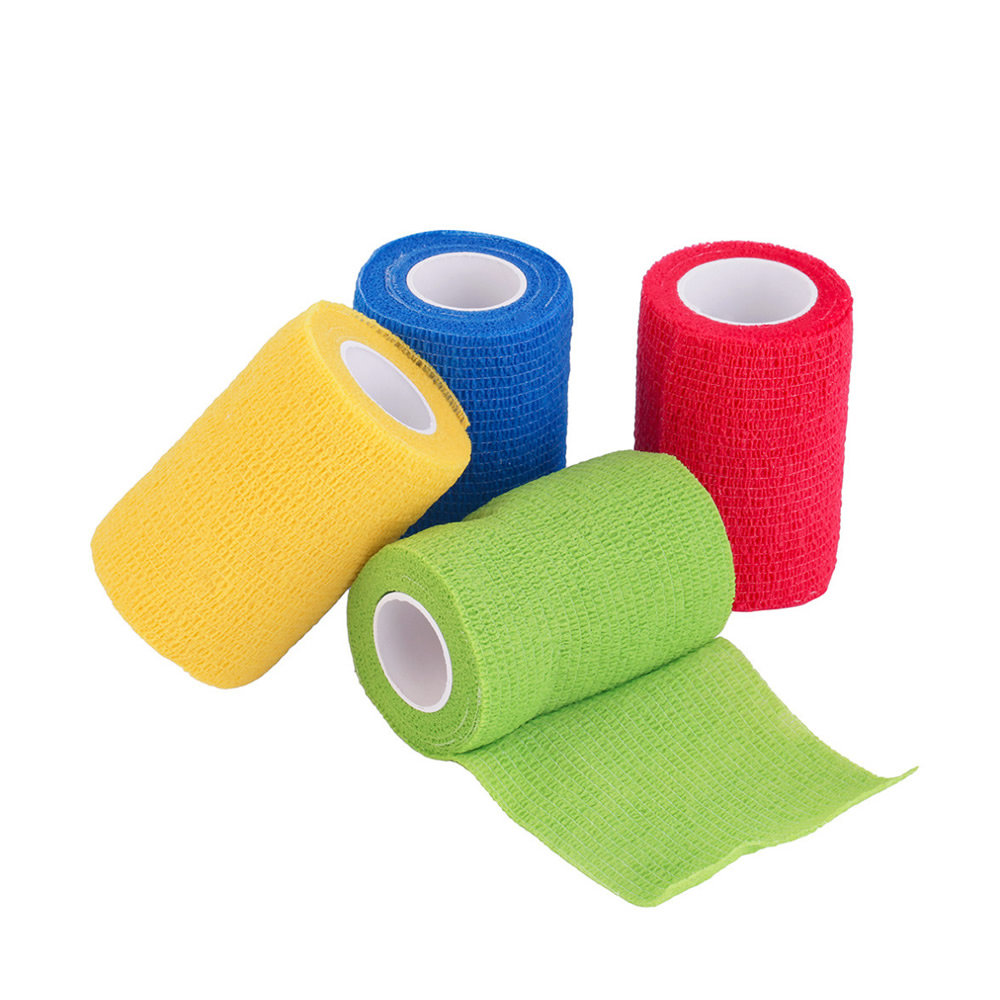 6 Rolls Waterproof Self-Adhesive Elastic Bandage Cohesive First Aid Tape Medical Health Care Therapy Bandage 2.5/5/7.5/10cm(China)