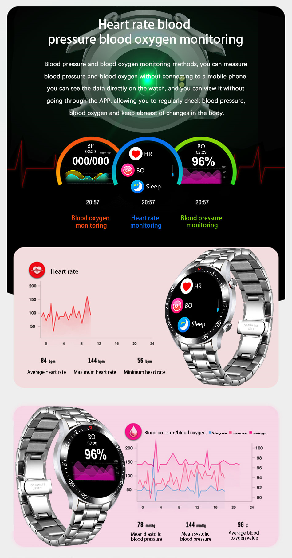 H70ceda61b14b4f3eac32eb3f2dd037c42 LIGE Smart Watch Men smartwatch LED Full Touch Screen For Android iOS Heart Rate Blood Pressure Monitor Waterproof Fitness Watch