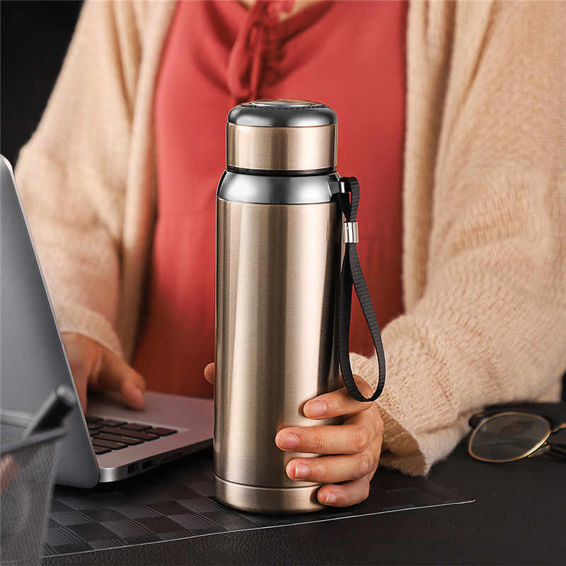 Vacuum Flask Men Women Thermos 600ml 304 Stainless Steel Coffee Mug Portable Self-Driving Thermal Insulation Tumbler Thermocup