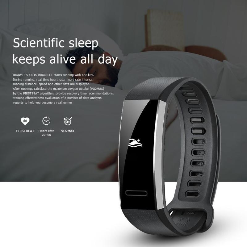 Bracelet intelligent Huawei Band 2 Pro Sport B29 Bracelet GPS écran pmolé 5ATM étanche natation PPG fréquence cardiaque Tracker de Fitness - 5
