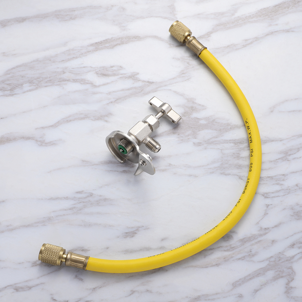 WINOMO Air Conditioning Refrigerant Charging Hose R12 R22 R134A Can Tap Dispensing Valve for Auto Car