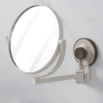 Bath Mirror Cosmetic Mirror 1X/3X Magnification Suction Cup Adjustable Makeup Mirror Double-Sided Bathroom Mirror bath mirror led cosmetic mirror 1x 3x magnification wall mounted adjustable makeup mirror dual arm extend 2 face bathroom mirror