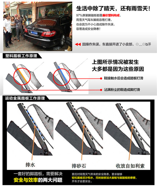 Pedales de coche para Toyota Corolla 2004-2015 Pedal acelerador Pedal de freno Pedal reposapiés