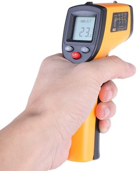 Infrared Thermometer (Not for Human) Temperature Gun Non-Contact Digital  Pyrometer Laser Thermometer-58℉ to 716℉ (-50 to 380℃) 3
