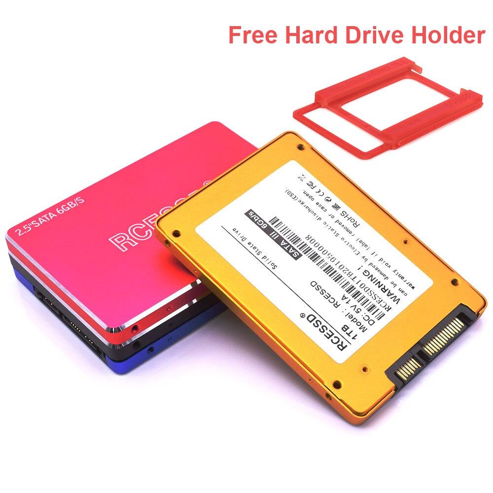 RCESSD Metal 2.5 Inch Internal Solid State Desktop Laptop Ssd 120GB 240GB 256GB 480GB 960GB