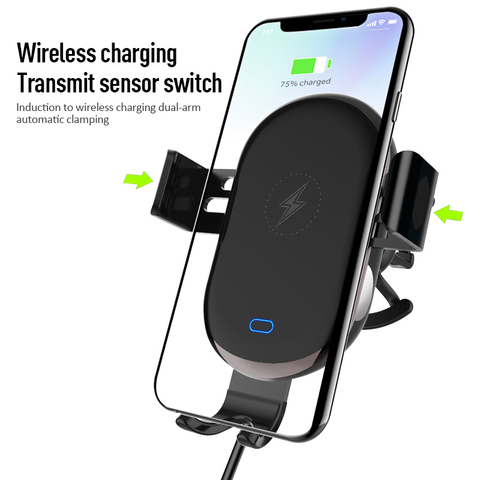2 In 1 Mobile Phone Stand Car Holder Smartphone Wireless  Fast Charging Scrubs Touch Sensing Bracket Mount Car Accessories Pakistan