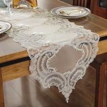 Белый и Шампанский бархат вышивка кружевной отделкой обеденный