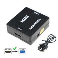 1080P HDMI to VGA Converter Box Full HD Video HDMI2VGA Adapter With 3.5mm Jack Audio Output For PC Laptop DVD PS4 XBOX360