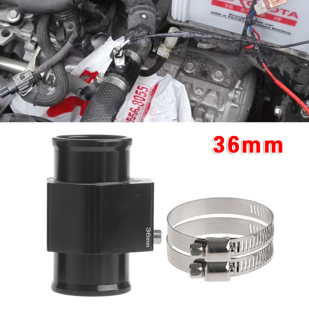 1Pc 68mmx36mm Water Temp Temperature Joint Pipe Sensors Gauge Radiator Hose Adapter Black Temperature Sensor