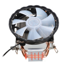 цена на 3Pin CPU Cooling Cooler RGB LED Heatsink Fan 4 Heatpipe Radiator CPU Cooler For Intel LGA 1150/1151/1155/1156/1366/775 AMD