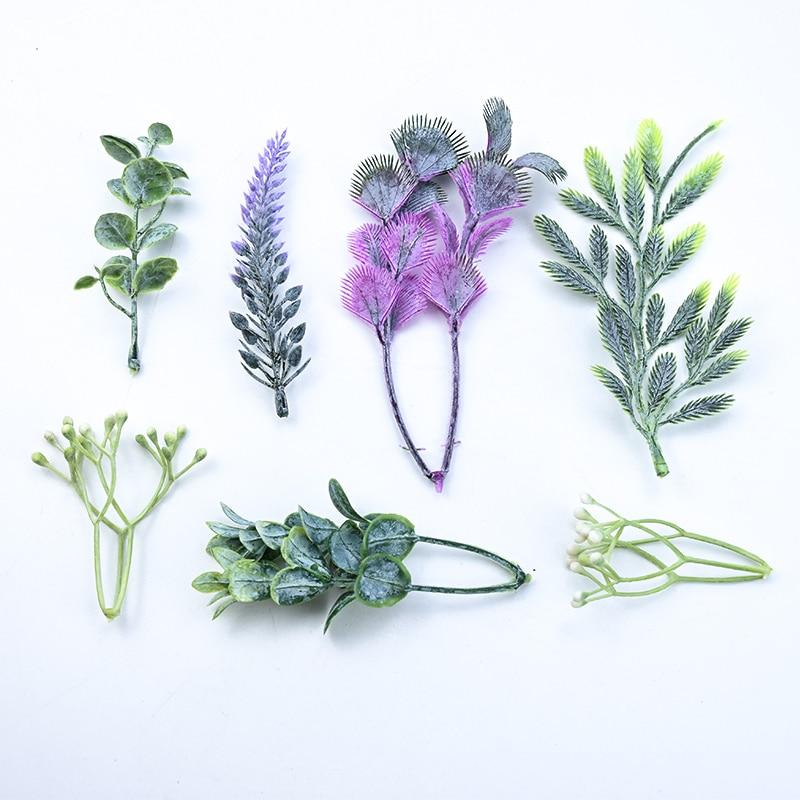 20pcs Wholesale Artificial Plants Wedding Bridal Accessories Clearance Christmas Decorative Flowers Wreaths Home Decor Diy Gifts