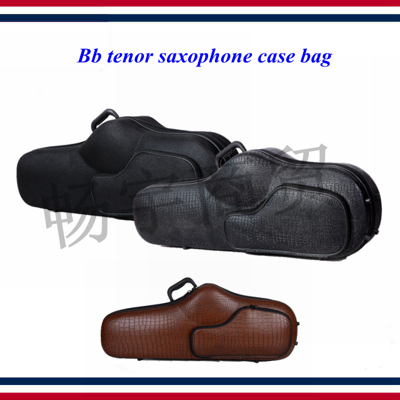 Bb Tenor Saxophone Case Bag   Light Body Oxford Cloth Imitation Crocodile Skin Backpack   Wind Instrument Box Parts