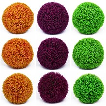 Large Artificial Plants Plastic Boxwood Balls Eucalyptus Milan Grass Ball Wedding Party Home Outdoor Decoration Bonsai
