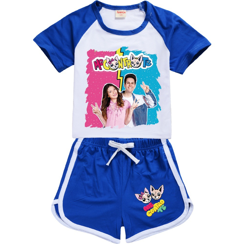 Teens Girls Outfitsme Boutique Kids Clothing Polyester Me Contro Te Kids Summer Boutique Clothing Boys Sport Shirt + Short Sets 2