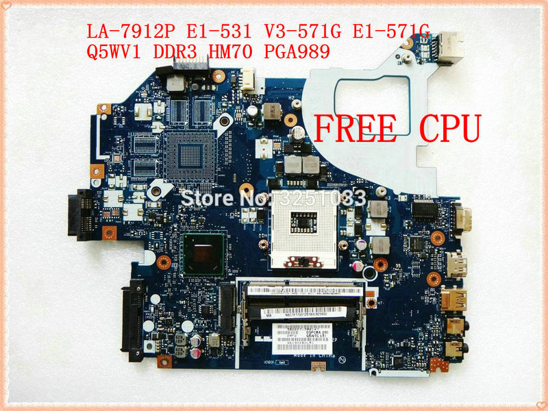 for Gateway NE56R V3-571G E1-571G NV56R laptop motherboard Q5WTC Q5WV1 LA-7912P DDR3 HM70 PGA989 DDR3 100% tested
