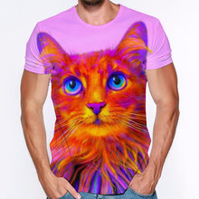 Cute cat 3d print t shirt man women clothing watercolor animals