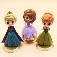 Disney frozen2 Аниме Фигурка модель Эльза Анна София ПВХ торт