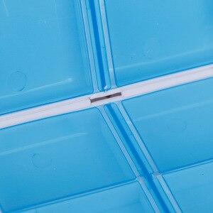Image 4 - 1pcプラスチック7日折りたたみミニピル救急キットボックス医薬品タブレット収納トラベルケースホルダーコンテナ
