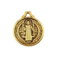 100 шт древнее золото орден Святого Бенедикта амулеты большая