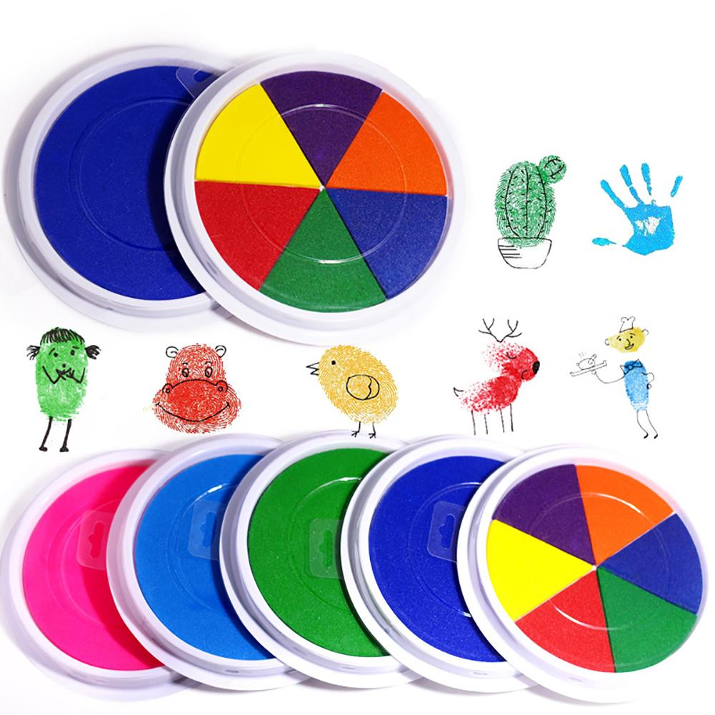 Finger Painting Drawing Oil Based Inkpad Stamp Fingerprint Scrapbooking Kids Toy Suitable For Children To Do Hand Painting Toys