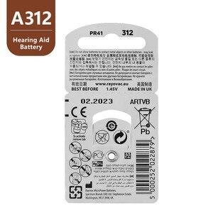 Image 4 - Батареи для слухового аппарата Rayovac Peak A312 312A ZA312 312 PR41 U, 60 шт.