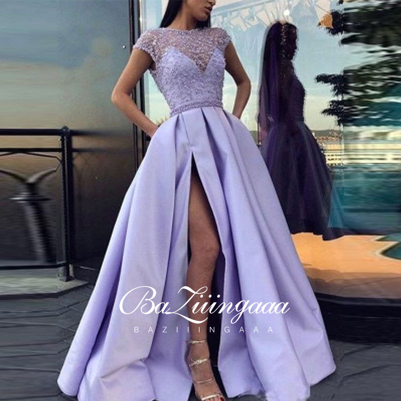 BAZIIINGAAA Luxury 2021 Party Elegant Woman Evening Gown Plus Size Slim Printed Long Evening Dresses Ever Pretty Dress