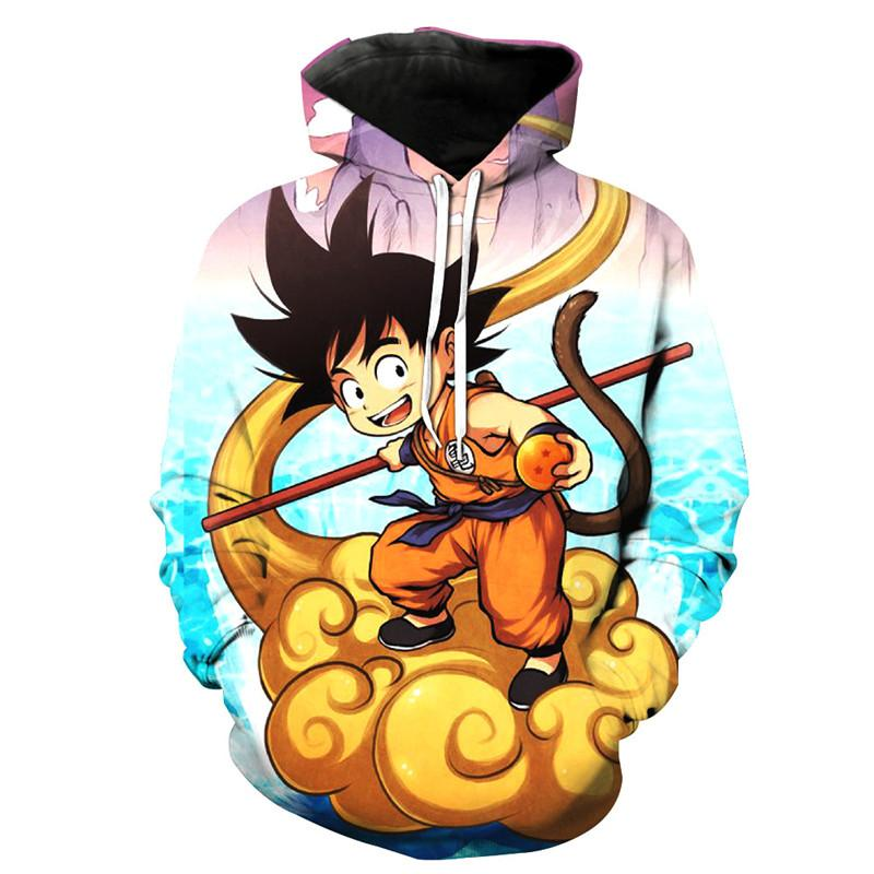 Dragon Ball 3D 2019 New Arrival Fashion Hoodies Sweatshirt Cartoon Characters Streetwear Popular Men/Women Cool Hoodies