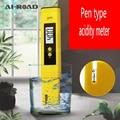 Цифровой измеритель уровня PH кислотности ручка портативный высокоточный водонепроницаемый прибор для тестирования качества воды PH